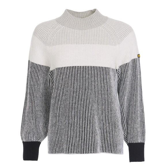 Barbour International Womens Grey Picard Knitted Jumper
