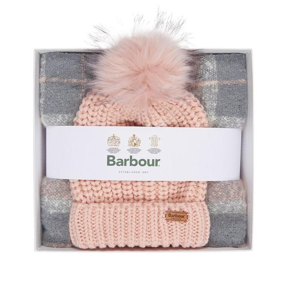 Barbour Lifestyle Womens Grey Saltburn Beanie & Scarf Set