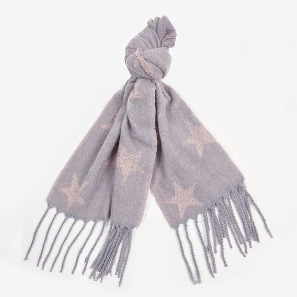 Barbour International Womens Grey Agatha Boucle Wrap