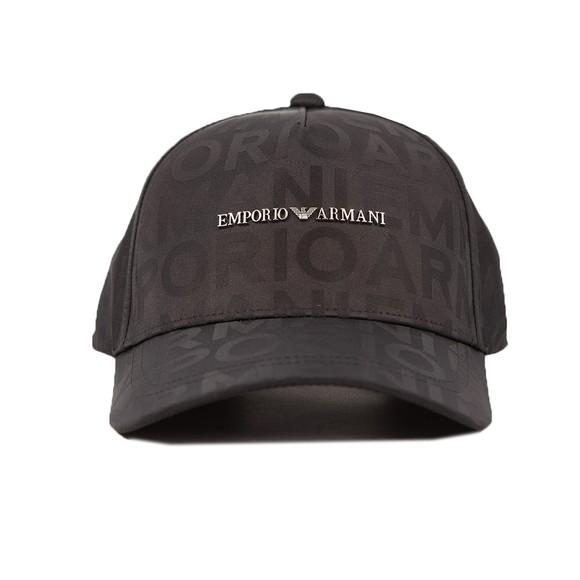 Emporio Armani Mens Black Emporio Printed Cap
