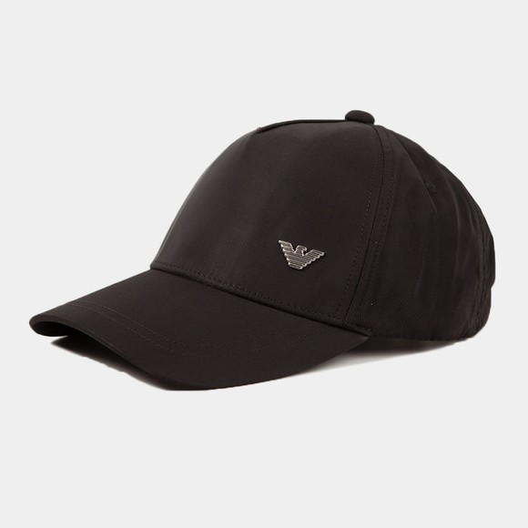 Emporio Armani Mens Black Eagle Logo Cap