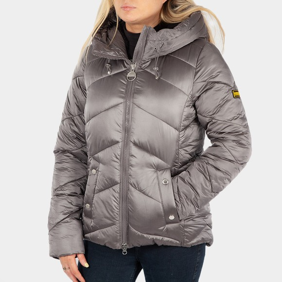 Barbour International Womens Grey Motegi Quilt Jacket