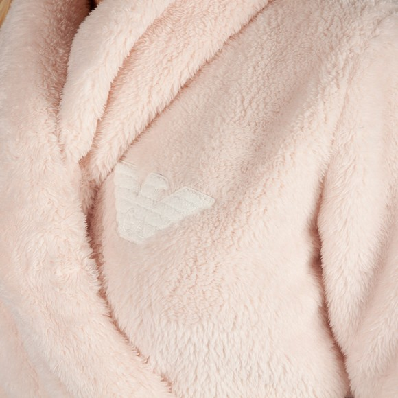 Emporio Armani Womens Pink Soft Badge Logo Dressing Gown main image
