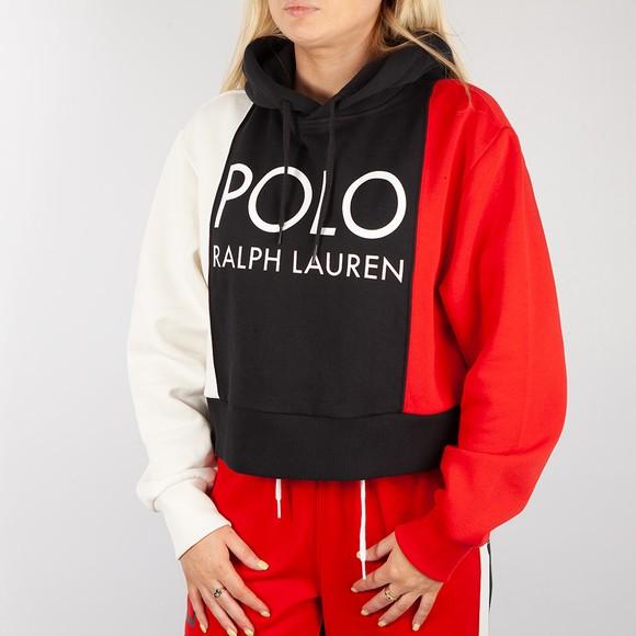 Polo Ralph Lauren Womens White Tri Colour Hoody