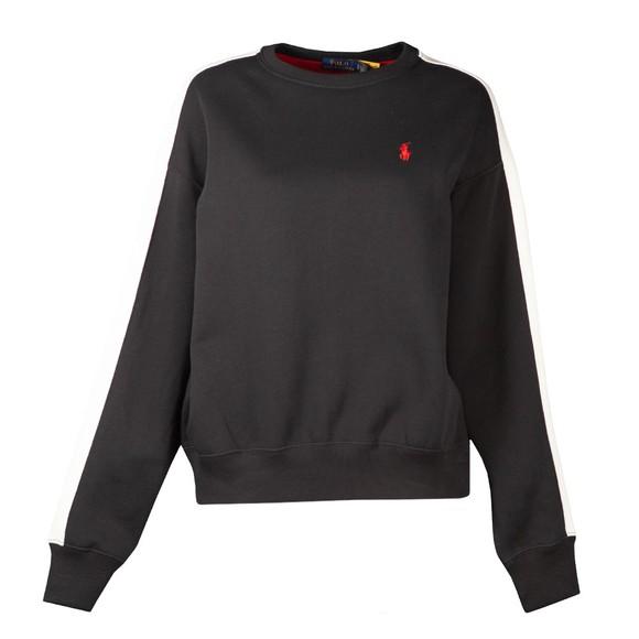 Polo Ralph Lauren Womens Black Relaxed Colour Block Fleece Sweatshirt