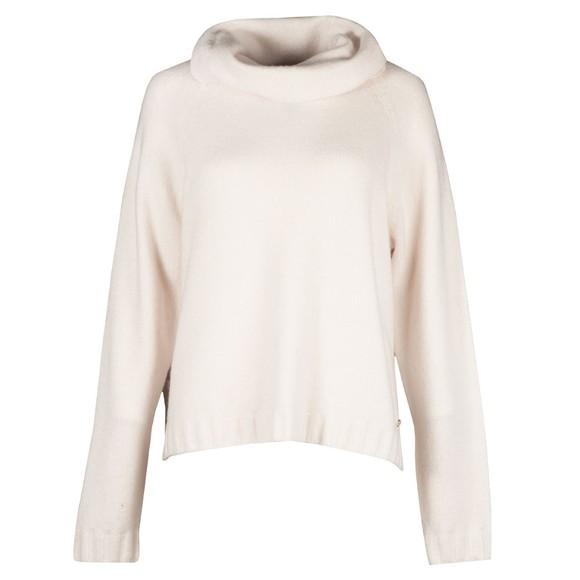 Ted Baker Womens White Julitta Fluffy Oversized Sweater