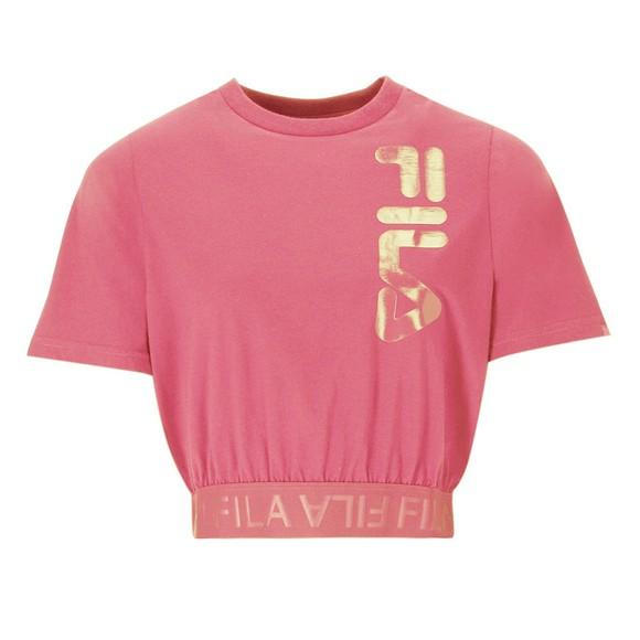 Fila Womens Pink Paisley Jacquard T-Shirt