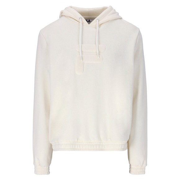 Fila Womens White Lima Quilted Chest Logo Hoodie