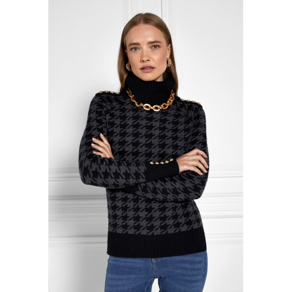 Holland Cooper Womens Grey Heritage Knit Jumper
