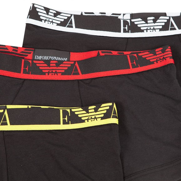 Emporio Armani Mens Black 3 Pack Stretch Cotton Trunk