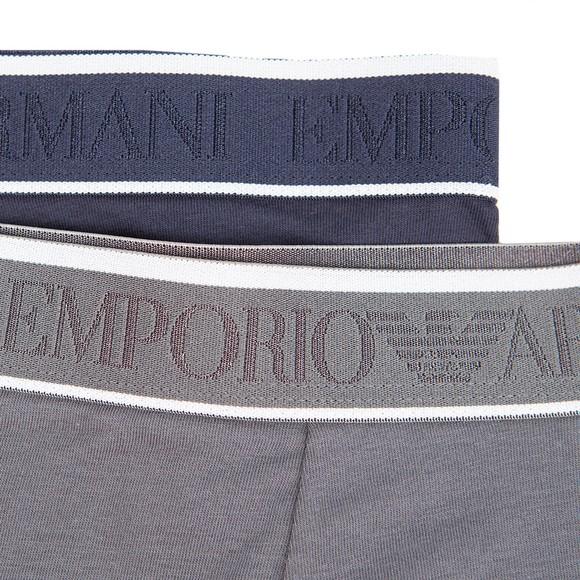 Emporio Armani Boys Blue 2 Pack Boxers