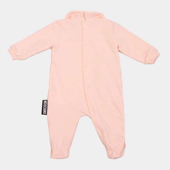 Moschino Girls Pink Bear Babygrow