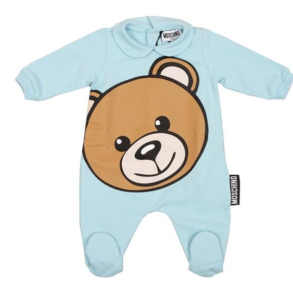 Moschino Boys Blue Bear Babygrow