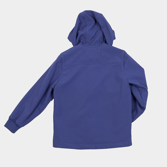 C.P. Company Undersixteen Boys Blue Soft Shell Goggle Hooded Jacket