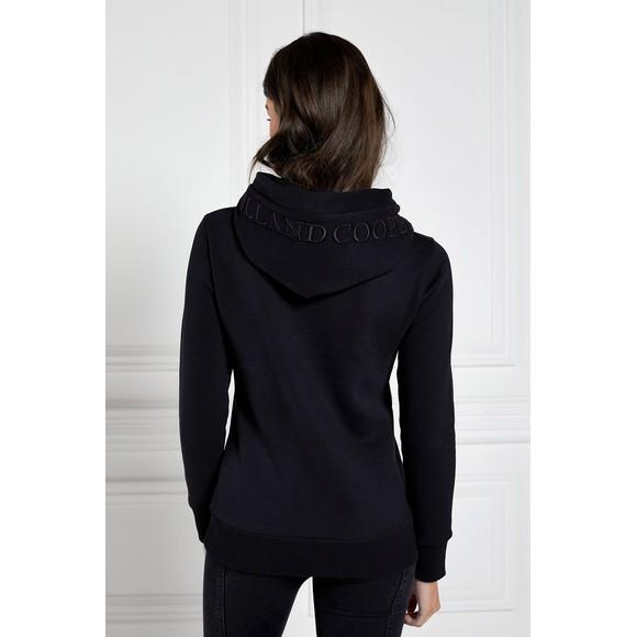 Holland Cooper Womens Black Ornate Crest Hoody main image