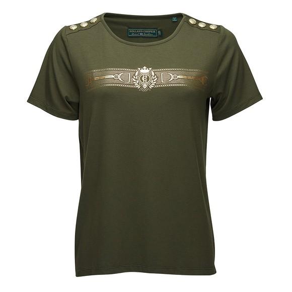 Holland Cooper Womens Green Stirrup T Shirt