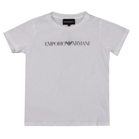 Emporio Armani Boys White Boys Essential Logo T Shirt