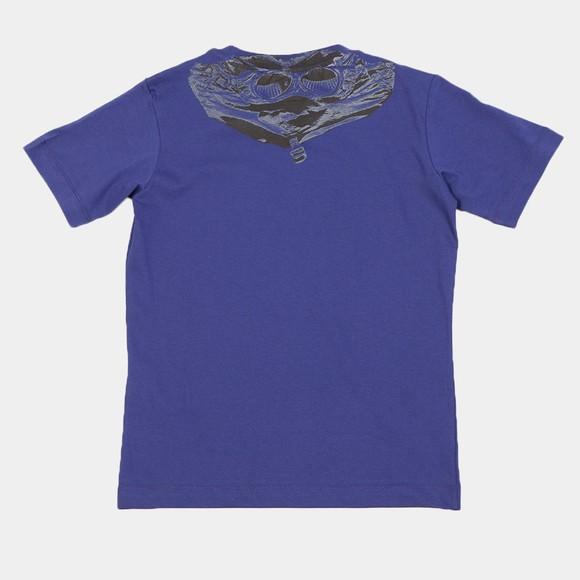 C.P. Company Undersixteen Boys Blue Printed Goggle T-Shirt