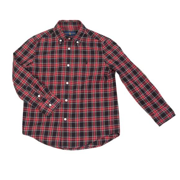Polo Ralph Lauren Boys Blue Multi Check Holiday Shirt