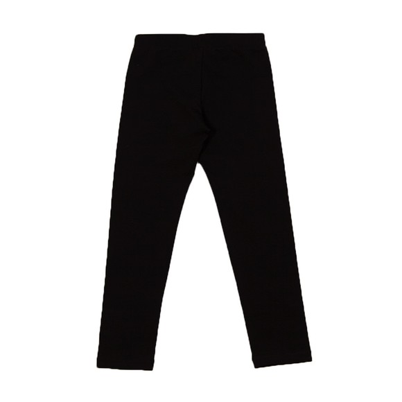 Moschino Girls Black Diamante Logo Legging
