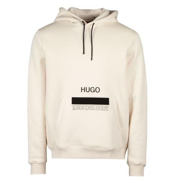 HUGO Mens Off-White Devertree Hoody