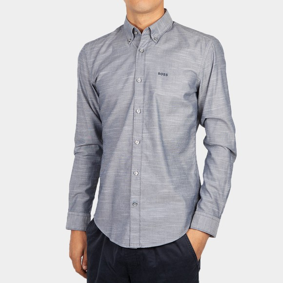 BOSS Mens Blue Formal Rod 53E Shirt