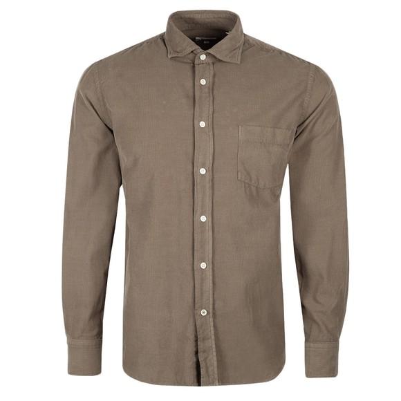 Hartford Mens Green Paul Pat LS Shirt