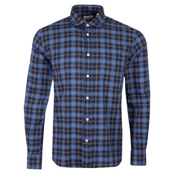 Hartford Mens Black Paul Check LS Shirt