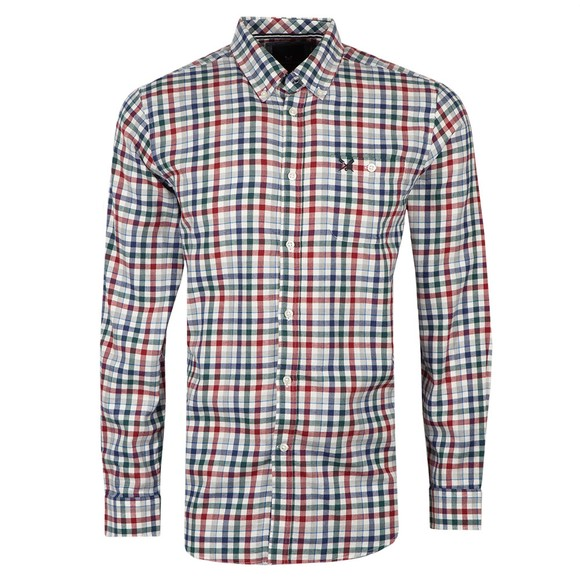 Crew Clothing Company Mens Multicoloured Classic Check Cotton Wool Flannel Shirt
