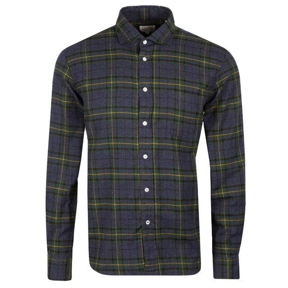 Hartford Mens Blue Paul Check LS Shirt