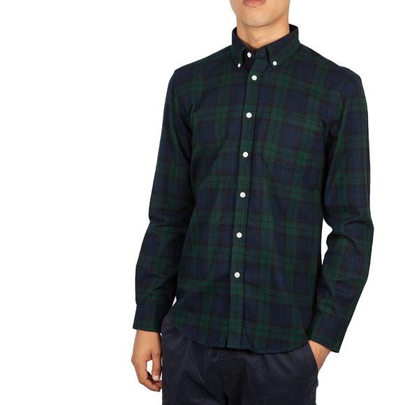 Portuguese Flannel Mens Blue Bonfim Shirt