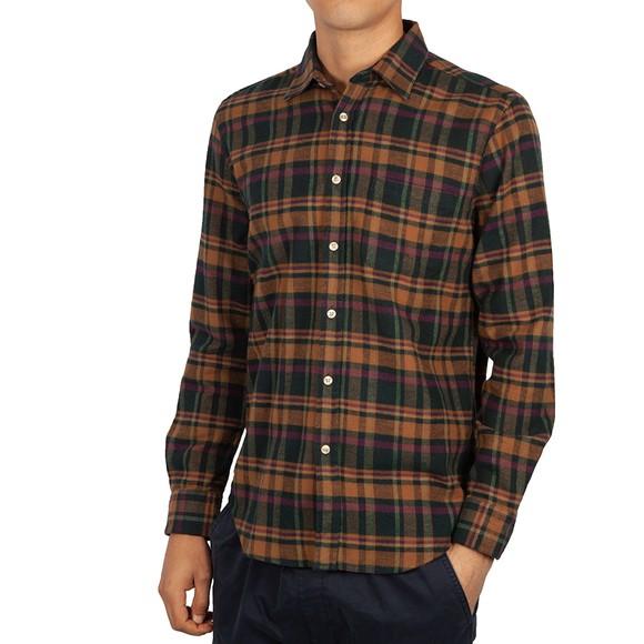 Portuguese Flannel Mens Beige Woods Shirt