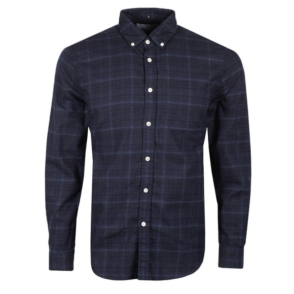 Portuguese Flannel Mens Blue Inside Heather Shirt