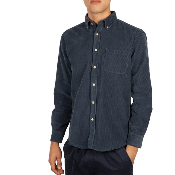 Portuguese Flannel Mens Blue Lobo Shirt