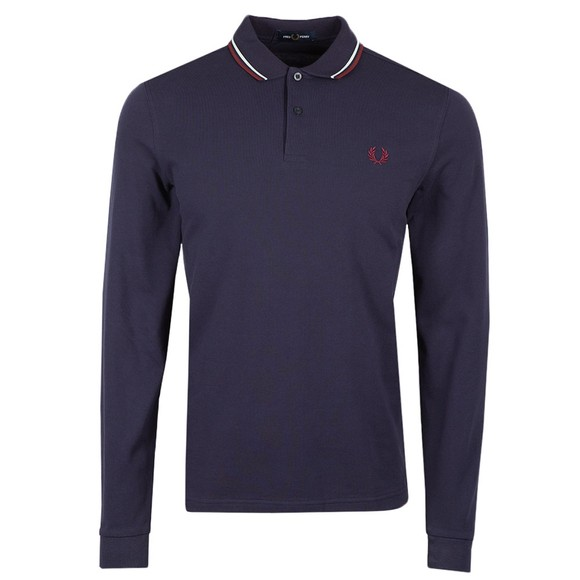 Fred Perry Mens Multicoloured L/S Tipped Polo Shirt