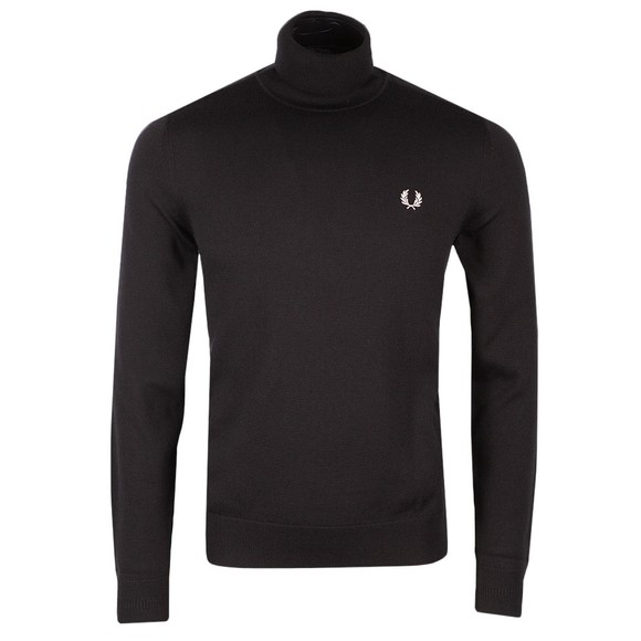 Fred Perry Mens Black Roll Neck Jumper
