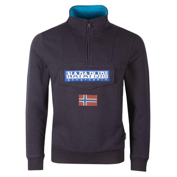 Napapijri Mens Blue Burgee 1/2 Zip Sweatshirt