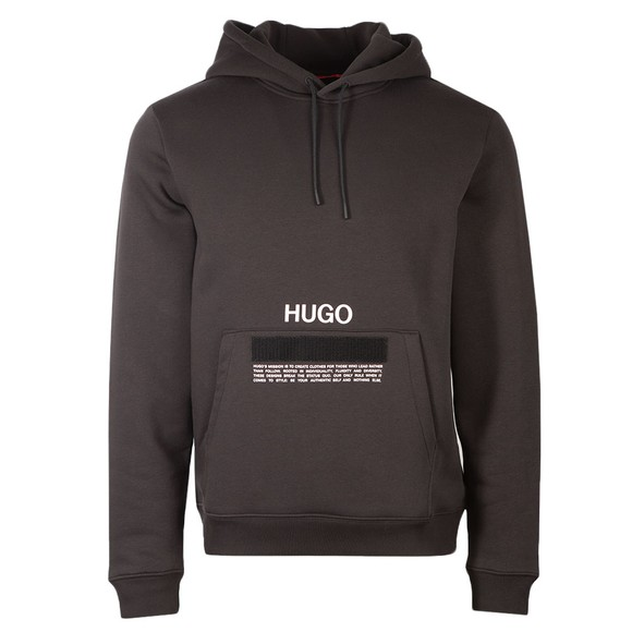 HUGO Mens Black Devertree Hoody