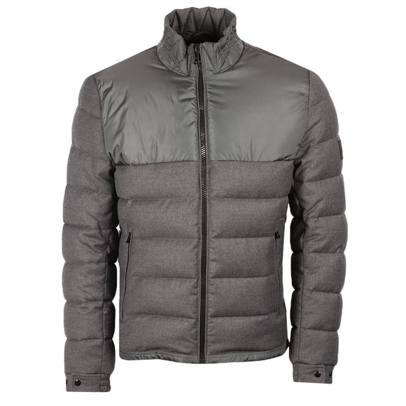 BOSS Mens Grey Cink Mixed Material Jacket