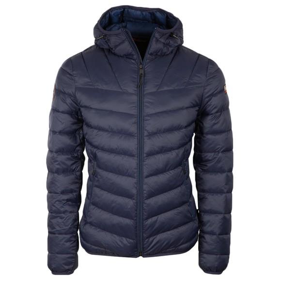 Napapijri Mens Blue Hooded Areons Jacket