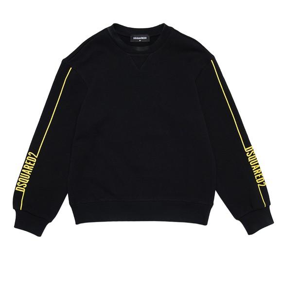 Dsquared2 Boys Black Sleeve Logo Crew Sweatshirt