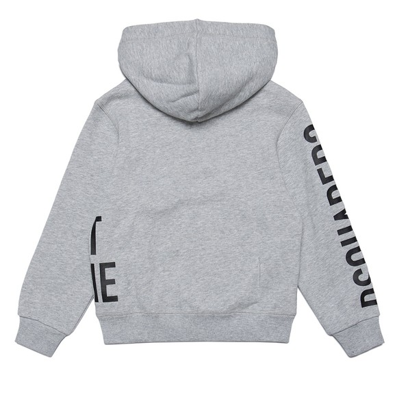 Dsquared2 Boys Grey Logo Full Zip Hoody