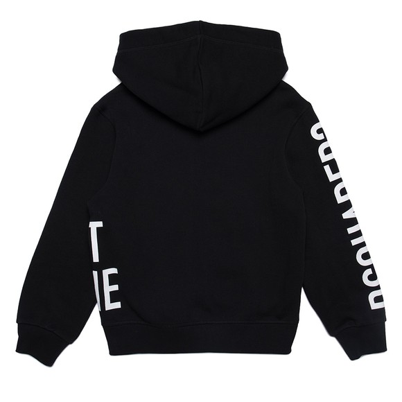 Dsquared2 Boys Black Logo Full Zip Hoody