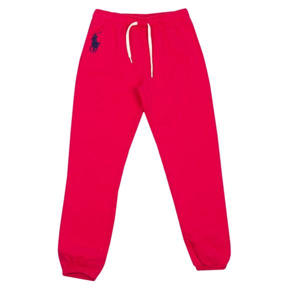 Polo Ralph Lauren Girls Pink Boston Commons Centre Logo Jogger