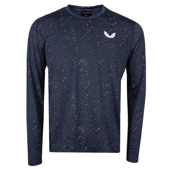 Castore Mens Blue Reflective Long Sleeve T Shirt main image