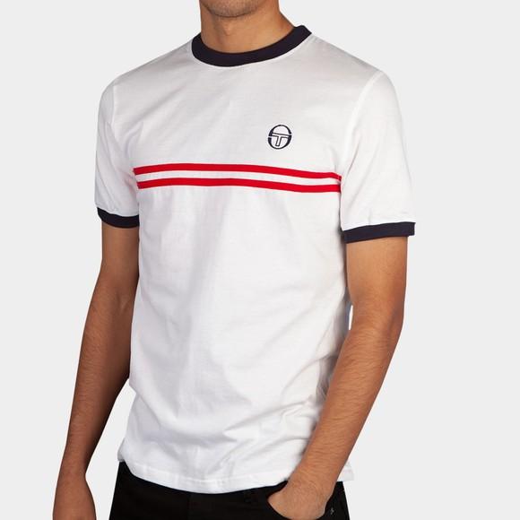 Sergio Tacchini Mens White Supermac T-Shirt