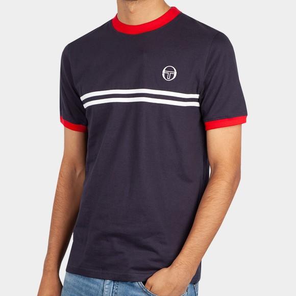 Sergio Tacchini Mens Blue Supermac T-Shirt