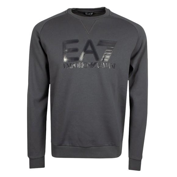 EA7 Emporio Armani Mens Grey Big Logo Sweat