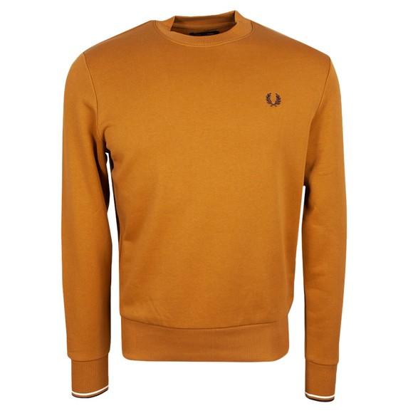 Fred Perry Mens Brown Crew Neck Sweatshirt