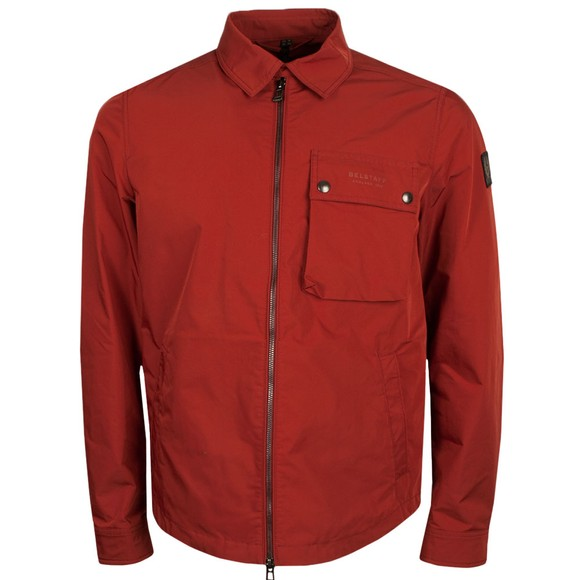 Belstaff Mens Red Wayfare Overshirt